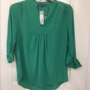 Brixon Ivy 3/4 length Sleeve Turquoise Top